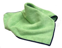"16"" Microfiber Green Cleaning  Cloth"