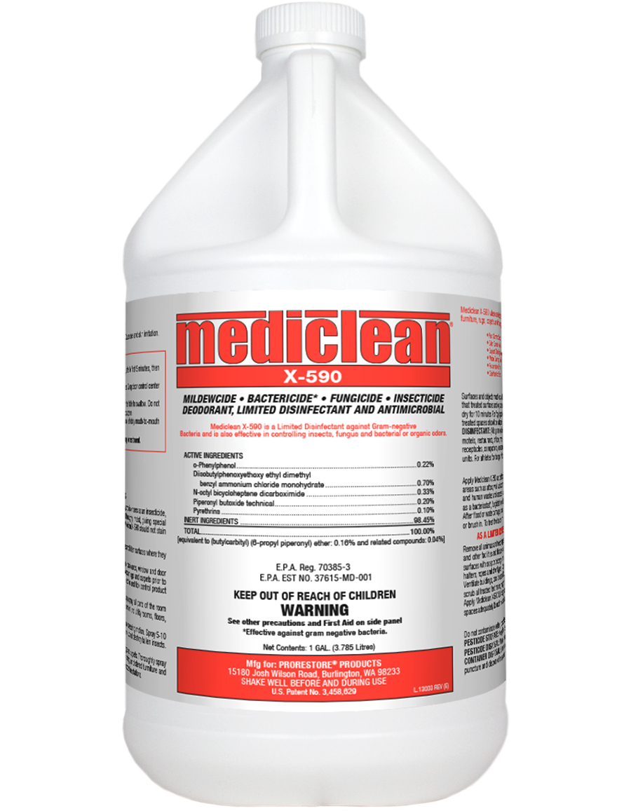 Microban X-590 Institutional Spray, bactericide,